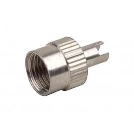 Čiapočka ventilku AV kovová s kľúčom (10ks)