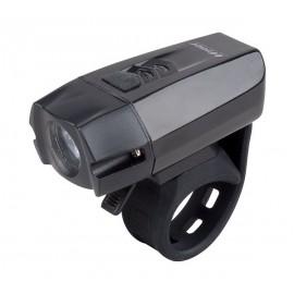 Svetlo predné PRO-T Plus 400 Lumen Cree XPG R5 LED dióda nabíjací cez USB kábel