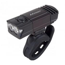 Svetlo predné PRO-T Plus 2 x 0.5 Watt LED diódy nabíjací cez USB kábel 7045